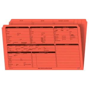 Real Estate Folder, Right Panel List, Legal Size, Orange