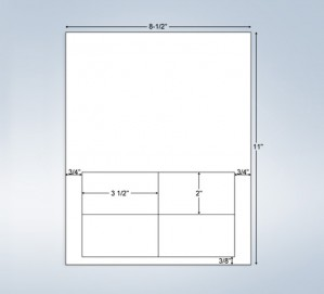 Integrated Label Form 4 Labels 3.5 x 2
