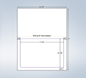 Integrated Label Form 1 Label 7.5 x 5-1/8