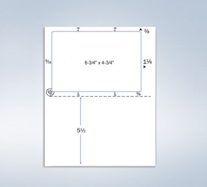 Integrated Label Form 1 Label 6-3/4 x 4-3/4 - Click-N-Ship