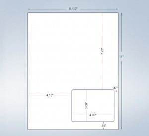 Integrated Label Form 1 Label 4 x 3