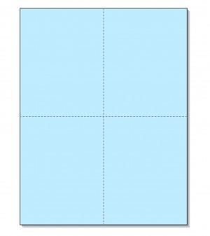 8-1/2 x11 Laser Cards 4 Up - Blue