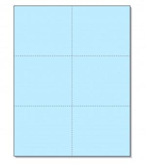 8-1/2 x11 Laser Cards 6 Up - Blue