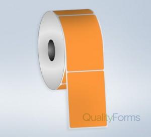 Thermal Transfer  label, 4''x6'', Orange FL