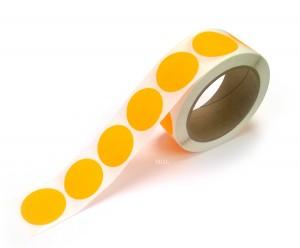 "1.5"" Circle Color Stickers, 500 Permanent Labels, 3"" Core, Orange Fluorescent"