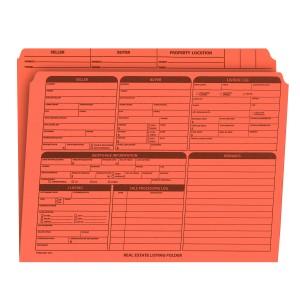 Real Estate Folder Right Panel List Letter Size, Orange