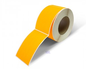 Rectangle Inventory Color Coding Labels - Orange - 3 x 5