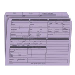 Real Estate Folder Right Panel List Letter Size, Lavender