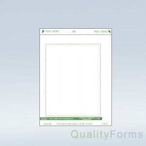 Duplex Laser Shipping Label/ Packing Slip - A-5