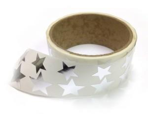 Metallic Foil Star Stickers, Silver