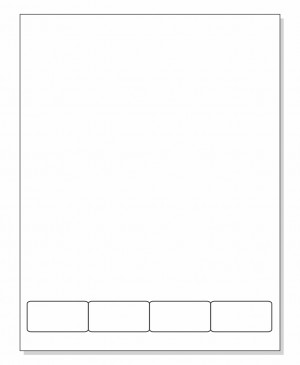 Integrated Label Form 4 Labels 2 x 1