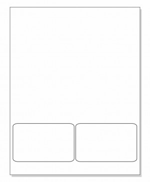 Integrated Label Form 2 Labels 4 x 2.5