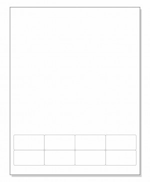 Integrated Label Form 8 Labels 2 x 1