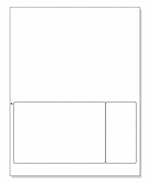 Integrated Label Form 2 Labels 6 x 4 | 2 x 4