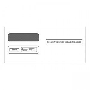 2020 3-Up Horizontal Laser W-2 Double-Window Envelope