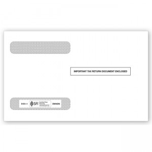 2020 4-Up Horizontal Laser W-2 Double-Window Envelope