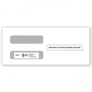 2020 3-Up 1099-MISC Income Horizontal Double-Window Envelope