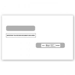 2020 4-Up Laser W-2 & Laser 1099-R Double-Window Envelope