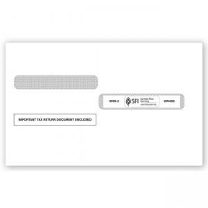 2020 4-Up Box Laser W-2 Double-Window Envelope, Self-Seal
