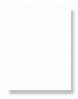 """8-1/2 x 11"""" Letter, 65 Lb. Cover Card Stock, White"""