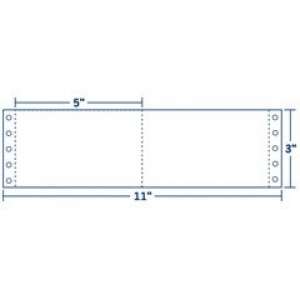 """Blank Continuous Index Cards, 6"""" x 3"""", 2 Wide"""