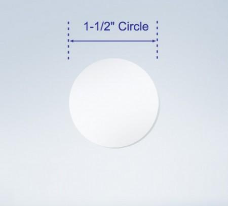 "Wafer Tab Seals, 1.5"" Round, Translucent"